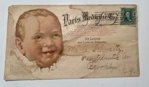 1904 2 SIDED MULTI COLOR ADVERTISING PARIS MEDICINE CO ST LOUIS MO Envelope