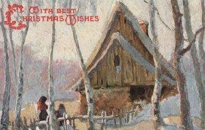 CHRISTMAS, 1900-10s; Wishes, Winter scene, TUCK #9244