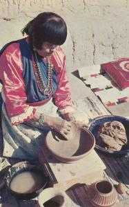 SAN ILDEFONSO PUEBLO, New Mexico, 50-60s; Maria, famous pottery maker