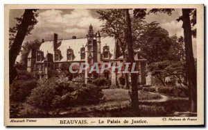 Old Postcard Beauvais The Palace of Justice