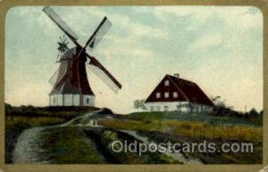 Windmill 1909 some corner wear, postal used 1909