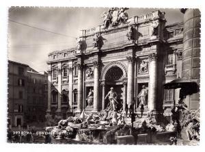 RPPC Roma Italy Fontana di Trevi Fountain Rome Real Photo