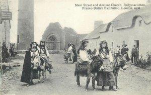Postcard exhibitions Main Street ancient church Ballymaclinton Franco British
