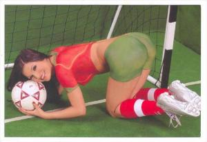 Soccer  Goalie  Girl wearing only body paint, 1990s #3