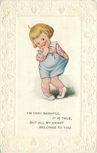 Bashful Girl~Finger in Mouth~Hand in Pocket~Toes In~Heart Belongs~Pink Pefection