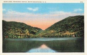 Postcard Echo Lake Franconia Notch White Mountain New Hampshire
