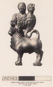 Roman Centaur Type Mythological Beast in Dorset Castle Postcard