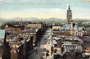 Massachusetts Holyoke    Aerial  view of High Street