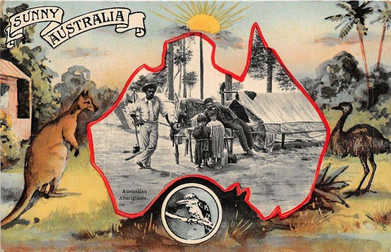 br104519 australian aboriginals  sunny australia kangaroo