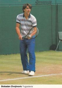 Slobadan Zivojinovic Yugoslavia Tennis Champion Rare Wimbledon Postcard