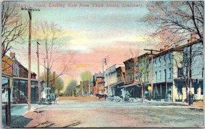 1910s LEWISBURG, Pennsylvania PA Postcard MARKET STREET, East from Third St.