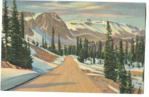 Highway through the Snowy Range, Medicine Bow National Forest, Southern Wyoming