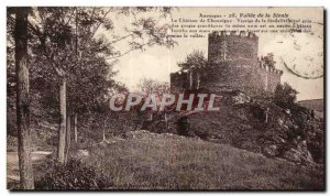 Old Postcard Auvergne Sioule Valley Chateau Chouvigny vestige of feudalism