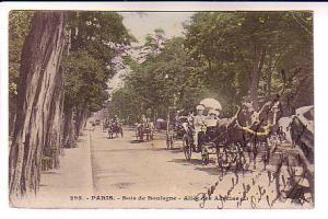 Tint, People, Horses Carriages Boulogne Paris France