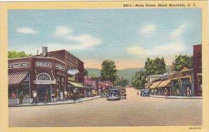 North Carolina Black Mountain Main Street Drug Store Curteich