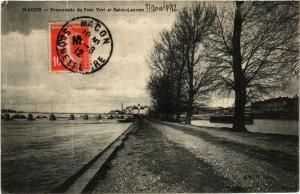 CPA Macon Promenade du Pont Vert et Saint-Laurent (615888)