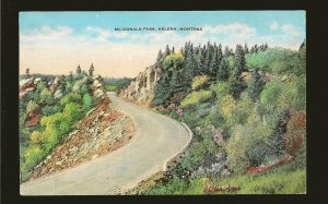 USA Postmark 1952 Great Falls Mont McDonald Pass Helena Montana Linen Postcard
