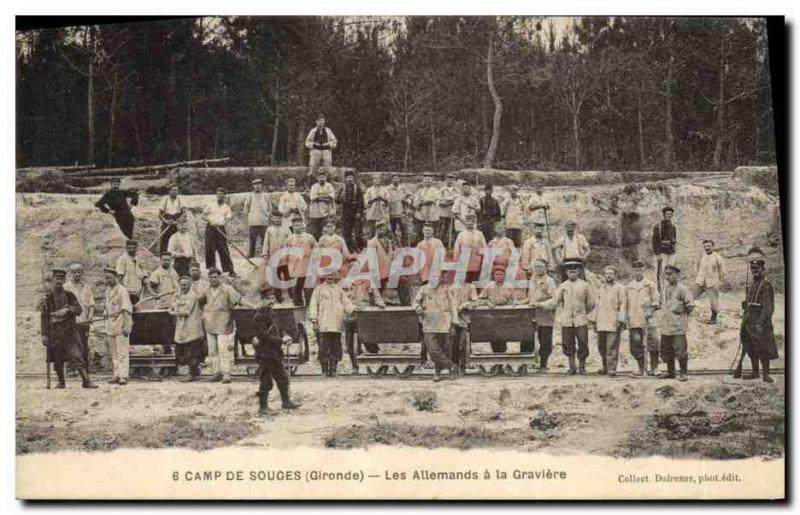 Vintage Postcard Ardoisieres Camp of Souges the Gironde the