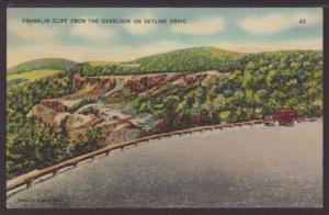 Franklin Cliff from the Overlook on Skyline Drive, Postcard