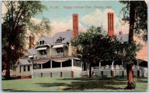 Omaha, Nebraska Postcard HAPPY HOLLOW CLUB Golf Club Clubhouse View c1910s