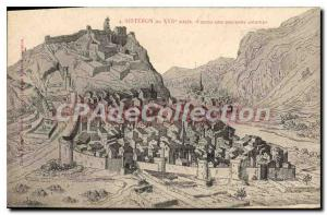 Postcard Old Sisteron after a print ansienne