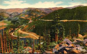 Colorado Rocky Mountains Loops In Trail Ridge Road Above Hidden Valley and Ho...