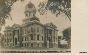 C-1910 Hancock County Courthouse RPPC Real photo Carthage Illinois 12846