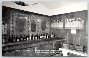 Sarasota Florida~John Ringling Mansion~Bros Circus Fame~Bar & Lounge~1950s RPPC