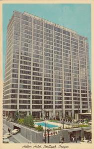 PORTLAND, Oregon, 1950-60s ; Hilton Hotel, Swimming Pool, Parking Garage