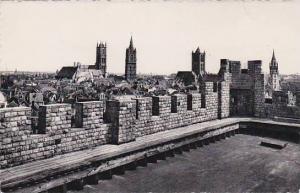 Belgium Gent Counts Castle Panorama Seen From The Keep's Platform