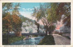 Bushkill Bridge And Mount Jefferson, Easton, Pennsylvania, 1910-1920s