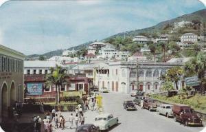Main Street, Charlotte Amalie, St. Thomas, US Virgin Islands, 1940-1960s