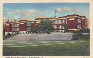 Exterior, James Monroe High School, Fredericksburg, Virginia, 30-40s