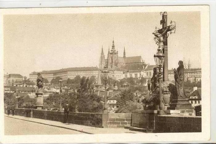 The Castle & The Charles Bridge, Prague, Czech Republic, 1900-1910s