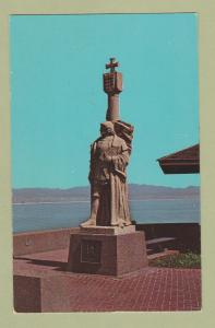 Postcard CABRILLO STATUE National Monument Point Loma, San Diego, California