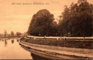 Indiana Indianapolis Fall Creek Boulevard 1907