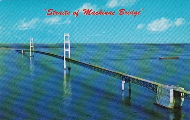 Michigan Mackinaw City Straits Of Mackinac Bridge