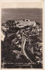 Monaco Le Rocher Vue prise e la mayenne Corniche Photo