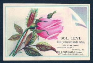 VICTORIAN TRADE CARD Sol Levi Cheap Reliable Clothier