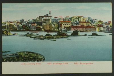 Jaffa, Landing Place, vester & c. Postcard circa 1910