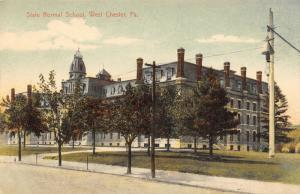 West Chester Pennsylvania~State Normal School Campus~Hanging Street Lamp~1910 PC