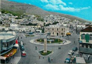 Postcard Jordan Nablus Commercial Street