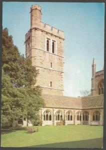 Postcard New College Oxford Bell Tower & Clositers by J.Arthur Dixon Ltd
