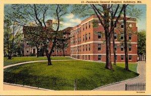 Maryland Salisbury Peninsula General Hospital Curteich