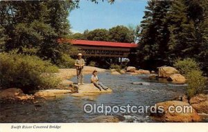 Covered Bridge Vintage Postcard Swift River Covered Bridge White Mountains, N...