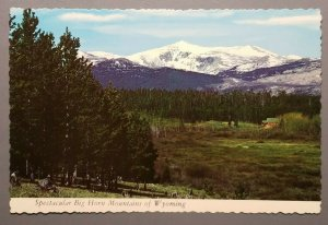 Spectacular Big Horn Mountains of Wyoming Postcard