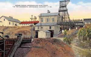 Mesabi Range Minnesota Underground Mine Shaft Antique Postcard K101168