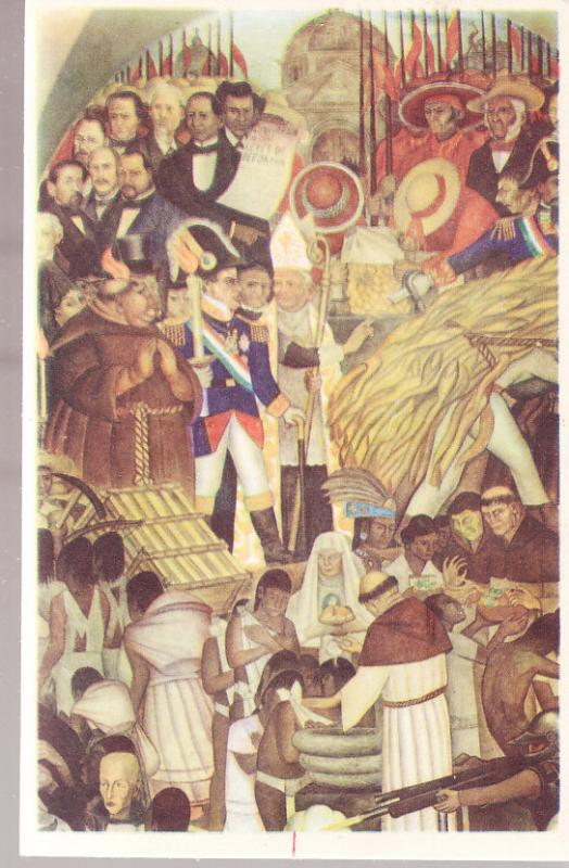 Mexico - The Reform - Baptism of the Indians by Diego Rivera