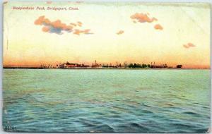1908 Bridgeport, CT Postcard Steeplechase park Amusement Park Panorama View