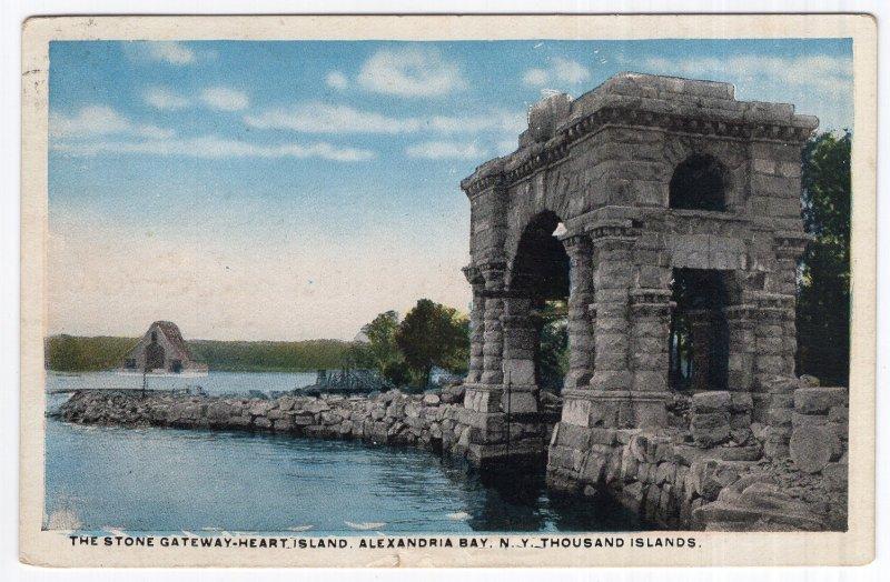The Stone Gateway-Heart Island, Alexandria Bay, N.Y., Thousand Islands